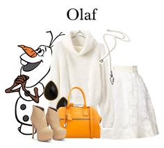 """Olaf/Frozen/1-30-16"" by megan-vanwinkle ❤ liked on Polyvore featuring Orla Kiely, Natasha Accessories, Marc Jacobs, women's clothing, women, female, woman, misses and juniors"
