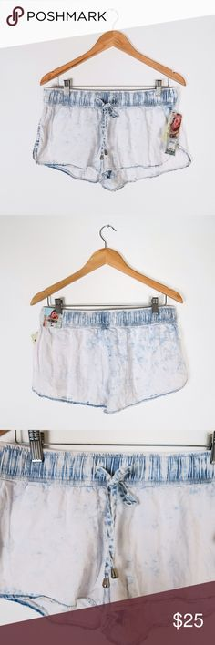 Chambray drawstring dolphin shorts Brand: Rewash Size: Large(Junior) Color: Chambray New  Dolphin style  Acid wash Denim Drawstring  Low rise Light weight fabric Relaxed fit  Inseam : about 2.25in 65% Cotton 35% Rayon No Trade Shorts