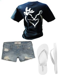 simple summer outfit by amberyates  liked on Polyvore