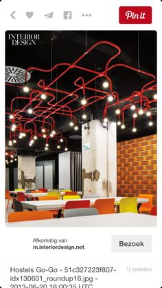 zwart plafond, gekleurde PVC