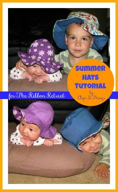 #Summer #Hats Tutorial - The Ribbon Retreat Blog... Two great #patterns here. I really like the bucket hat one!