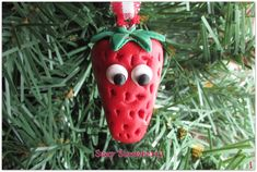 Strawberry Christmas Ornament Red Berry Ornament Strawberry Charm Funny Food Ornament Strawberry Shortcake Funny Food Red Gingham Fruit Jam Unique Christmas Ornaments, Christmas Cookies, Christmas Decorations, Food Humor, Funny Food, Thai Curry, Fruit Jam, Red Gingham, Cute Packaging