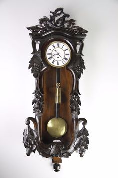 ANTIQUE 1 WEIGHT VIENNA WALL CLOCK IN BEAUTIFUL CASE   eBay Antique Watches, Antique Clocks, Woodworking Projects Diy, Diy Projects, Pendulum Clock, Vienna, Antiques, Wall, Beautiful