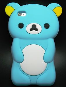 Baby Blue Teddy Bear Soft Silicone Gel Rubber Cover Case iPod Touch 4th Gen | eBay i want this but in brown