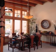 Coronado interior design | J.P.Walters Design Associates - Arts and Craft dining room