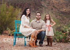 Posing a family of three.  Celesa Felix Photography