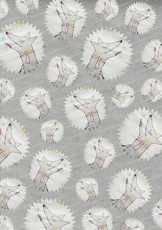 Geschenkpapier - ♥ 5 Bogen Geschenkpapier Polar Fuchs ♥ - ein Designerstück von Marmorkuchenkatze bei DaWanda