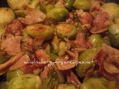 Bacon and Brussel Sprouts with Sauteed Onions  Thanks for sharing at vegetarianmamma.com's #glutenfreefridays link up!