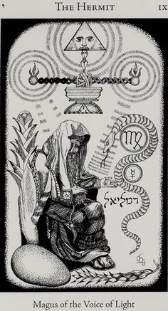 The Hermit from the Hermetic Tarot