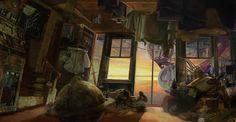 Hoarder's Home, rociel sama on ArtStation at https://www.artstation.com/artwork/ecru-s-house