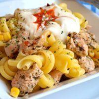 Recept : Těstovinový salát s kuřecím masem a pikantním dipem   ReceptyOnLine.cz - kuchařka, recepty a inspirace