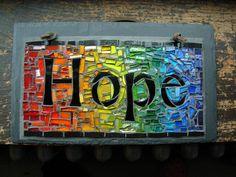 Hope Rainbow Mosaic by Nutmeg Designs by Nutmeg Designs, via Flickr