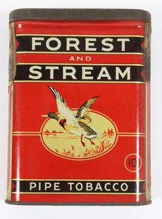 Pocket Tobacco Tin - Forest & Stream