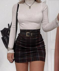 Top 25 Preppy Style and Outfits To Look Great This Fall - Mode Mode Outfits, Girly Outfits, Cute Casual Outfits, Stylish Outfits, Party Outfit Casual, Best Outfits, Cute Outfits With Skirts, Mini Skirt Outfits, Plaid Outfits