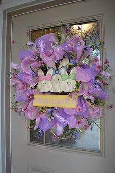 Beautiful wreath, Kristen!! Kristen's Creations: Easter Mesh Wreath Tutorial 2012