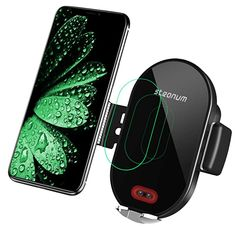 Wireless Car Charger, Steanum Automatic Clamping Infrared Sensor, Fast Charging Phone Holder Air Vent Car Mount, Compatible with iPhone Plus, Galaxy 8 Iphone 10, Galaxy Note, Usb, Pelican Case, Smartphone, Car Phone Mount, Car Mount, Lg G5, Autos