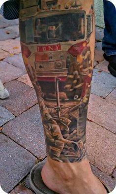 Tony Lopez w/Hillsborough County Fire Rescue (Hillsborough County Florida) Beautiful tribute to Ems Tattoos, Body Art Tattoos, Tattoos For Guys, Sleeve Tattoos, Cool Tattoos, Tatoos, Tattoo Ink, Arm Tattoo, Hand Tattoos