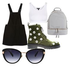 """""""Cute but casual"""" by maryoneal on Polyvore featuring Monki, Topshop, Anouki, Oscar de la Renta and MICHAEL Michael Kors"""