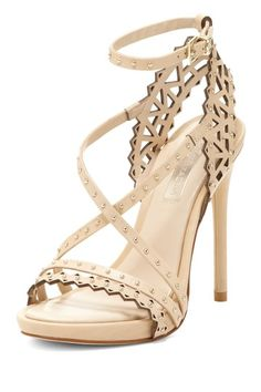 Cut out nude sandals