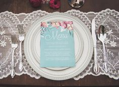 Vintage Wedding Stationery & Place Setting  - A Romantic Vintage Wedding Inspiration Shoot from Sue Gallo Designs