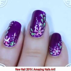 Beautiful Nail Art - Beat nail art for girls. You are in the right place about Beautiful Nail Art Tattoo Design And Style - Nail Art Vidéo, Nail Art Hacks, Nail Art Ideas, Ocean Nail Art, Nail Nail, Nail Art Designs Videos, Nail Design Video, Kid Nail Designs, Nail Art Flowers Designs