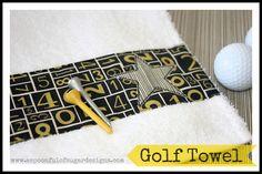 Ideas de costura para hombres!! - Golf Towel {Tutorial} | A Spoonful of Sugar