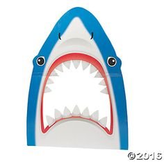 Stick your head between this shark& jaws for a fantastic photo op! Place this cardboard Shark Photo Prop at your DIY photo booth for guests to take some . Luau Theme Party, Party Props, Party Ideas, Fiesta Party, Party Hats, Event Ideas, Party Favors, Photos Booth, Diy Photo Booth