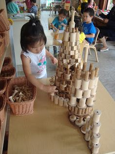 A few weeks ago I stepped into one of my preschool classrooms and I happened upon a child working on an elaborate structure using loose pa...