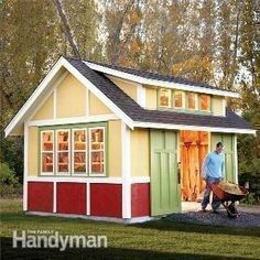 How to Build a Shed: 2011 Garden Shed 12 x 16 welding studio with loft. The windows will have to go on north end. Concrete floor. Replaces camp trailer. #campingtrailers