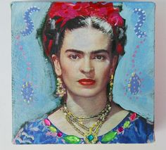 Frida Kahlo Collage Original von Atelier Art-istique auf DaWanda.com
