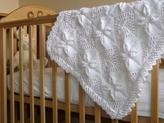 Ravelry: Lace Edged Pram Cover pattern by Patons UK Baby Boy Blankets, Knitted Baby Blankets, Baby Afghans, Free Baby Blanket Patterns, Crochet Blanket Patterns, Baby Patterns, Baby Boy Knitting Patterns, Baby Knitting, Crochet Baby