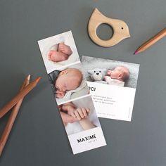 Un joli Photomaton pour annoncer une grande nouvelle. 🍀 Faire Part Photo, Album Design, Baby Family, Babysitting, Presentation Design, Birth, Toddler Bed, Frame, Glossier