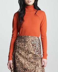 Long-Sleeve Turtleneck, Moka by Carven at Neiman Marcus.