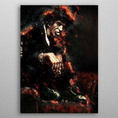 Keef Caricature by Abraham Szomor | metal posters - Displate