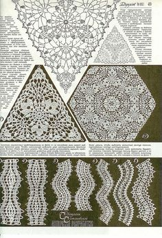 crochet lace triangle pattern