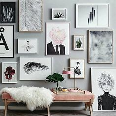 Gallery wall goals. Photo by @norsuinteriors