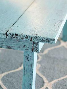 See how to give furniture the perfect worn in look: http://www.bhg.com/decorating/makeovers/furniture/how-to-paint-distressed-wood-furniture/?socsrc=bhgpin061215distressedwood