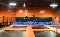 Kid Friendly Family Fun Urban Air Trampoline and Adventure Park Indoor Trampoline Park Foam Pit : Urban Air Indoor Trampoline Park Indoor Trampoline, Trampoline Park, Birthday Places, Family Night, Night Kids, Plyometrics, Kids Events, Summer Kids, Things That Bounce