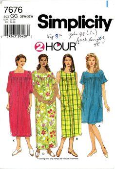 Simplicity 7676 Mu Mu dress pattern