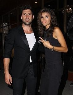 Zendaya and Maks at DWM Opening LA. 9/10/2014. Maksdaya. Haha! Family.