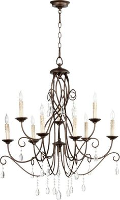 Buy the Quorum International Oiled Bronze Direct. Shop for the Quorum International Oiled Bronze Cilia 9 Light Wide Taper Candle Chandelier and save. Decor, Country Lighting, Indoor Lighting, Lighting, Dining Room Lighting, Ceiling Lights, Chandelier Lighting, Light Fixtures, Chandelier