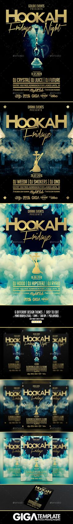 Hookah Fridayz Night | Party PSD Flyer Template (CS, 4.25x6, abstract, arabian, arabic, bar, birthday, bundle, celebration, chicha, club, cocktails, deejay, drink, event, hip hop, hookah, hookah bundle, indian, Kush, lounge, minimalist, music flyer, muslim, narguile, oriental, smoke, sound party, style, template, tobacco, urban)