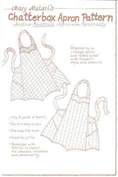 The Pattern Hutch -Apron Patterns, Retro Kitchen Wear, Vintage Apron ...