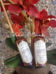 Las Lik Jerk Sauce done as a wedding favor for a destination wedding ...