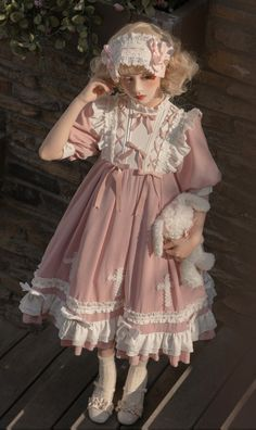 Quirky Fashion, Kawaii Fashion, Lolita Fashion, Pretty Outfits, Pretty Dresses, Beautiful Dresses, Cute Outfits, Anime Girl Dress, Outfit Look