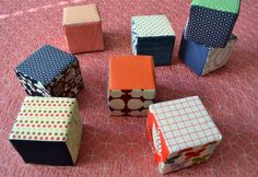 DIY baby blocks (with square shaped foam)