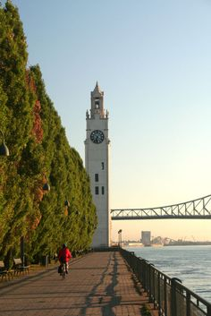 #Montreal by bike with Old-Port Clock Tower #travel