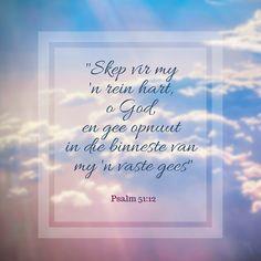 Psalm 51:12  #Afrikaans #SouthAfrica #God #praise #renew #heart