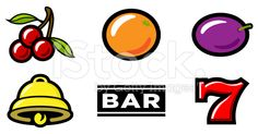 Slot Machine Icons royalty-free stock vector art