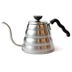 For the absolute best single-cup pour-over craft coffee. Have the complete control with a very steady and responsive flow rate. It is a MUST for the coffee connoisseur.    Features:  Durable stainless steel Flat bottom for use in all kinds of stoves (gas, electric, induction, halogen) 1200 ml (41 oz) capacity Low-mounted spout for an easier, more comfortable pour Very comfortable handle. Ergonomically design to follow the contour of the fingers.